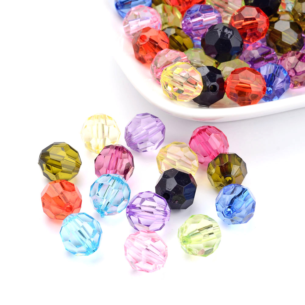 3 Strd Mixed Gemstone Faceted Round Beads Mini Loose Spacer Beads Crafting 2mm