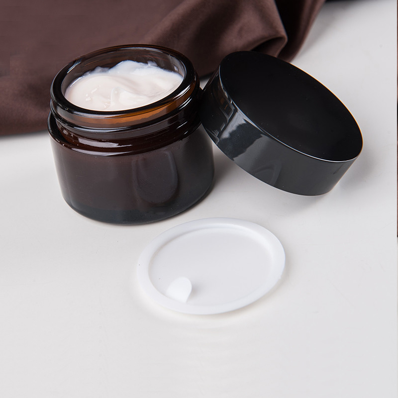 Image result for cream lotion and amber glass jar