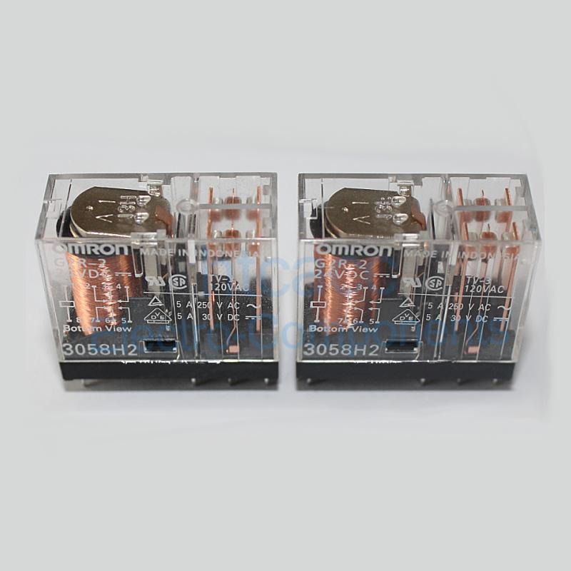G2R-2A 24VDC G2R-2A DC24 Power Relay 5A 24VDC 6 Pins x 10pcs