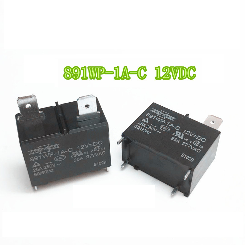 Details about 891WP-1A-C-12V 12VDC 25A 4 Pins Songchuan Power Relay (Set of  5)