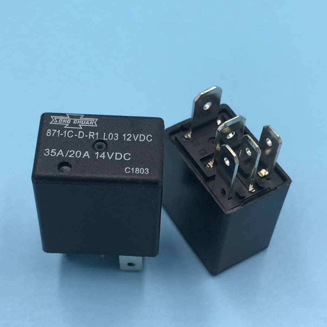 Song Chuan 4pcs 871-1A-S-R1-12VDC General Purpose Relays SPNO For