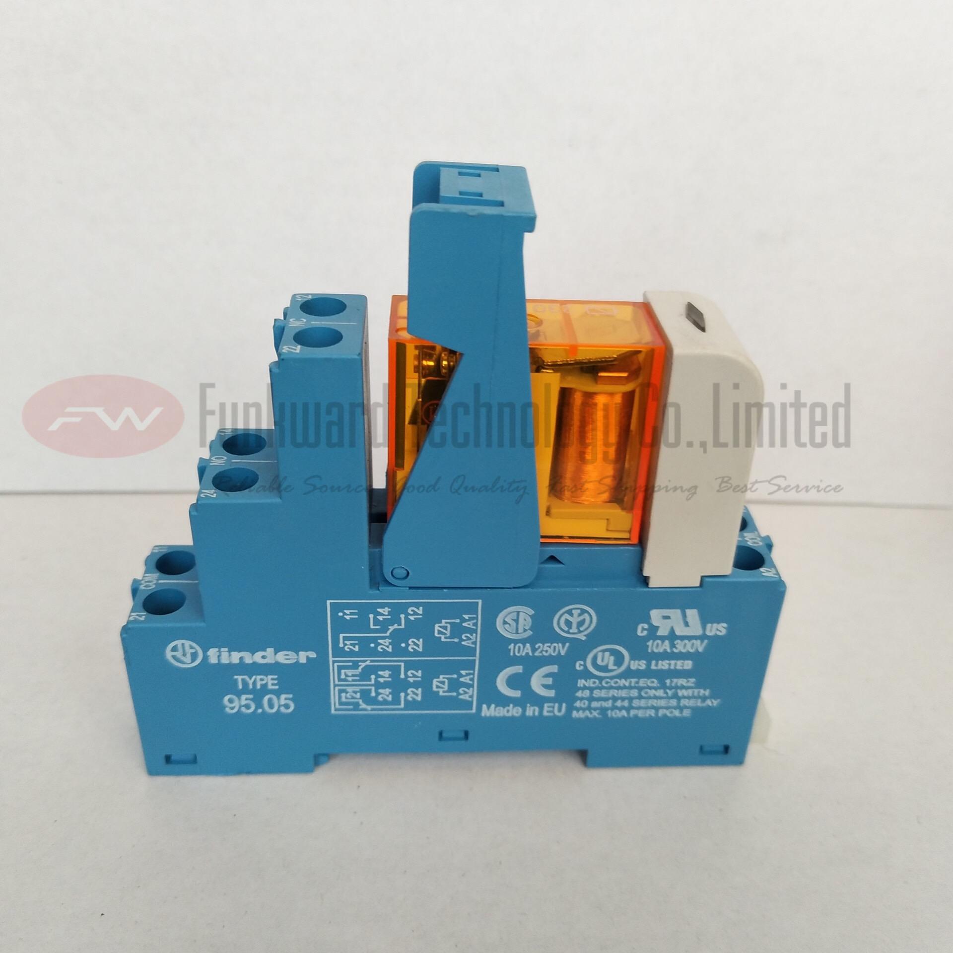 FINDER  40.52S  95.05  GENERAL PURPOSE RELAY W//SOCKET 24 VDC