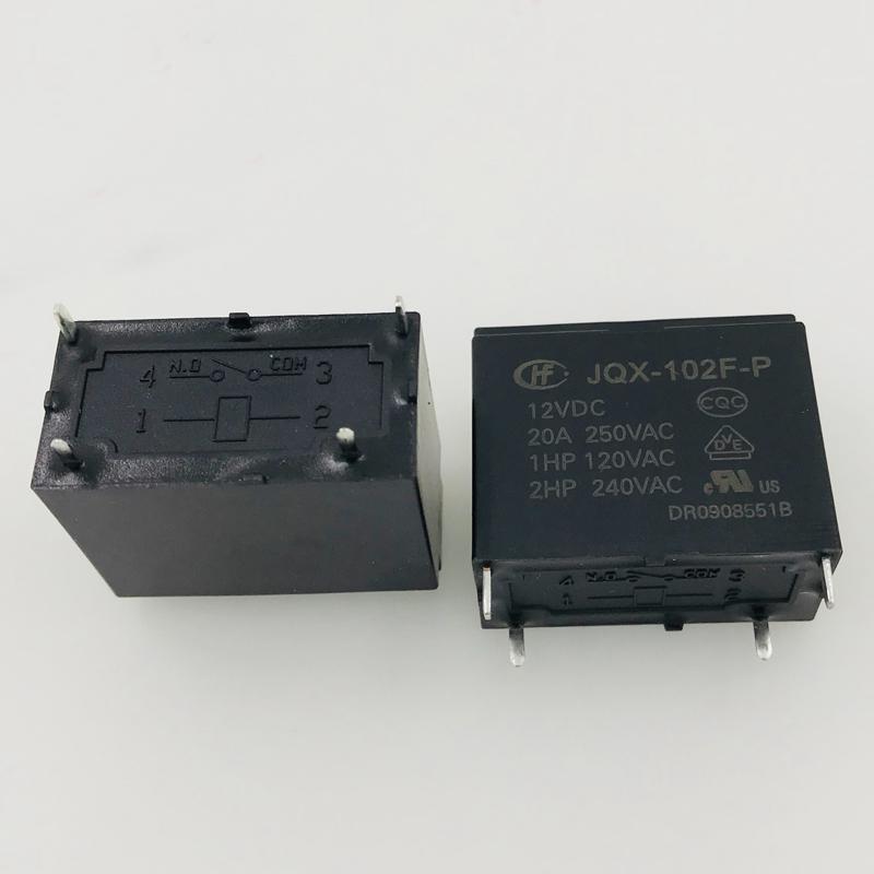 5pcs ORIGINAL 12V JQX-102F-P-12VDC HF102F-P-12VDC HONGFA Relay 4pins