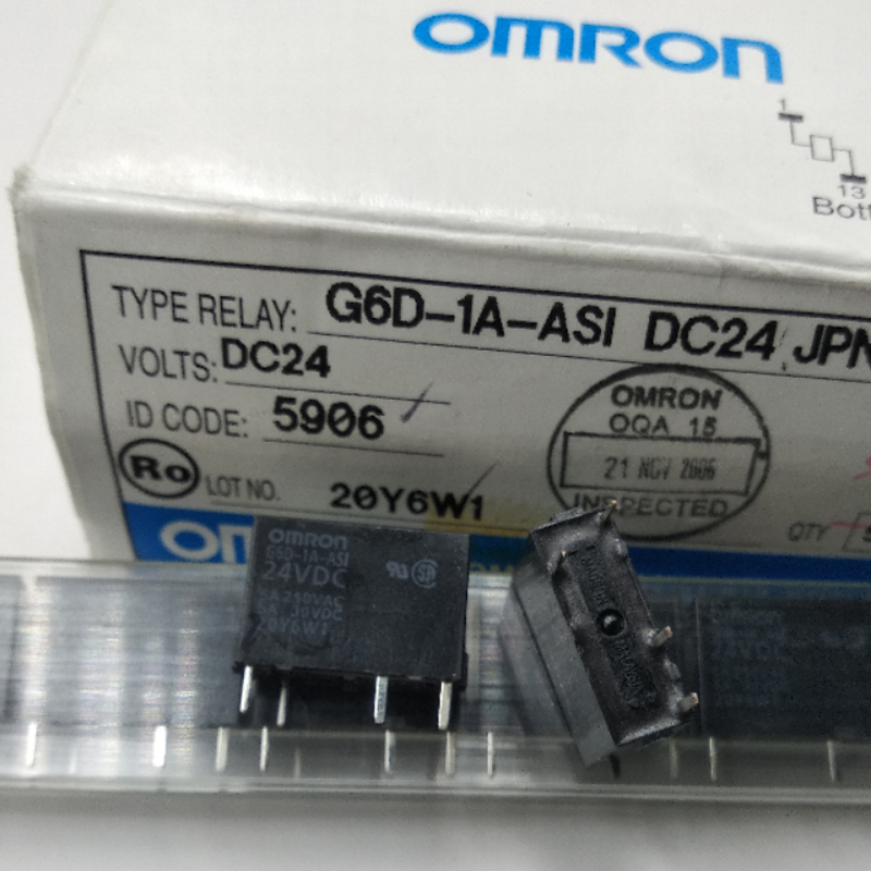 OMRON G6D-1A-ASI-DC12 SPST POWER RELAY 5A 12VDC 4 Pins x 10pcs