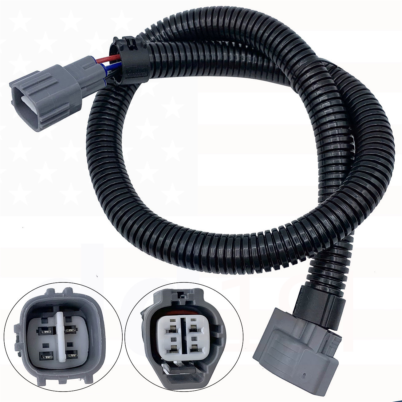 """TWO 15-19 Ford Mustang 12/"""" O2 Oxygen Sensor Extensions Wire Harness w//Connectors"""