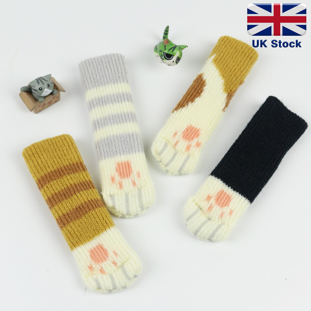 4Pcs//Set Table Chair Foot Leg Knit Cover Protector Socks Sleeve Protect Floor#