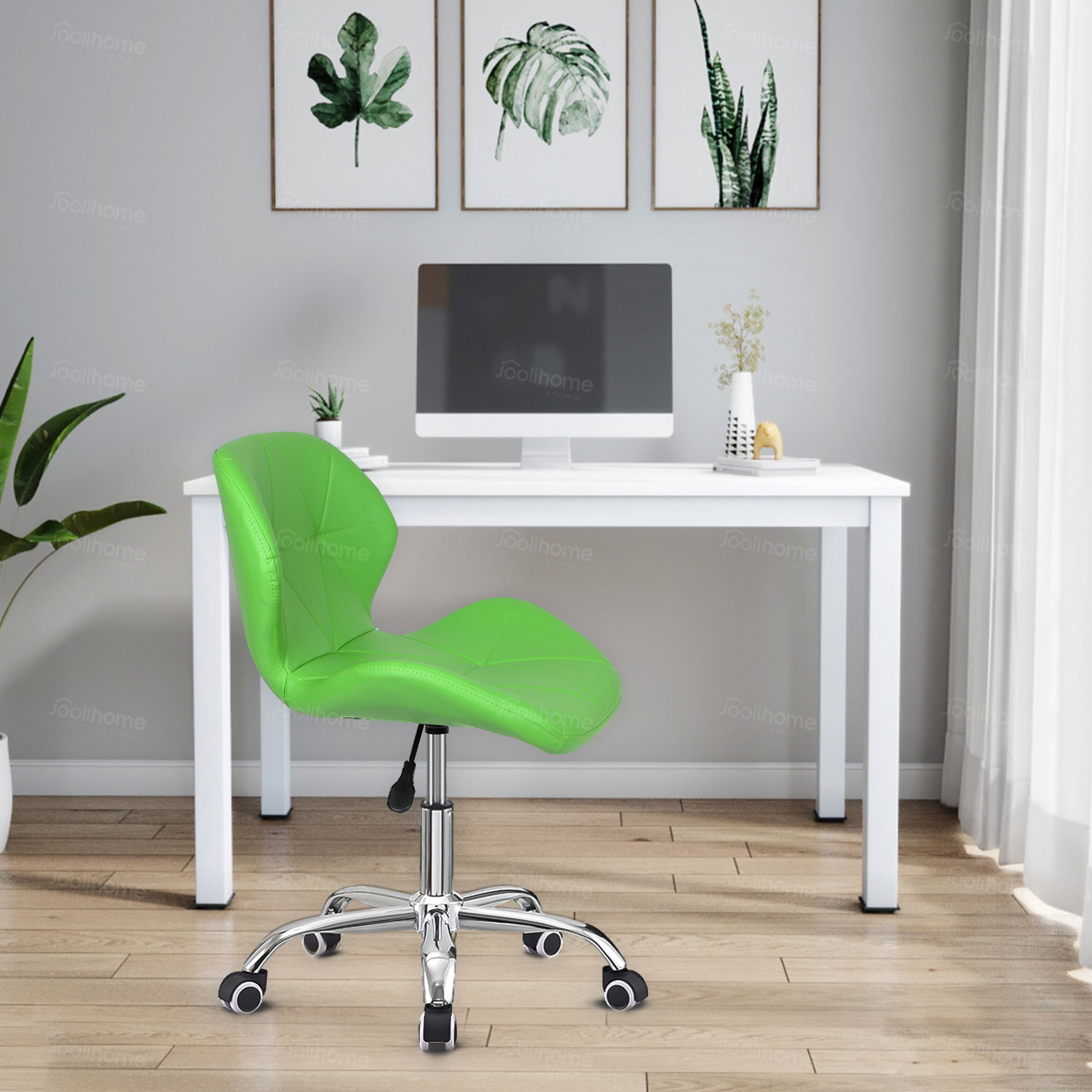 Swivel Furniture Computer Desk Office Chair PU Leather Adjustable Desk Chairs
