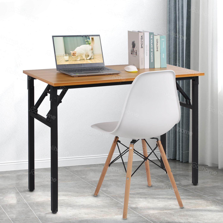 Folding Study Coffee Table Foldable Computer Desk Wooden Laptop Office Classroom Ebay