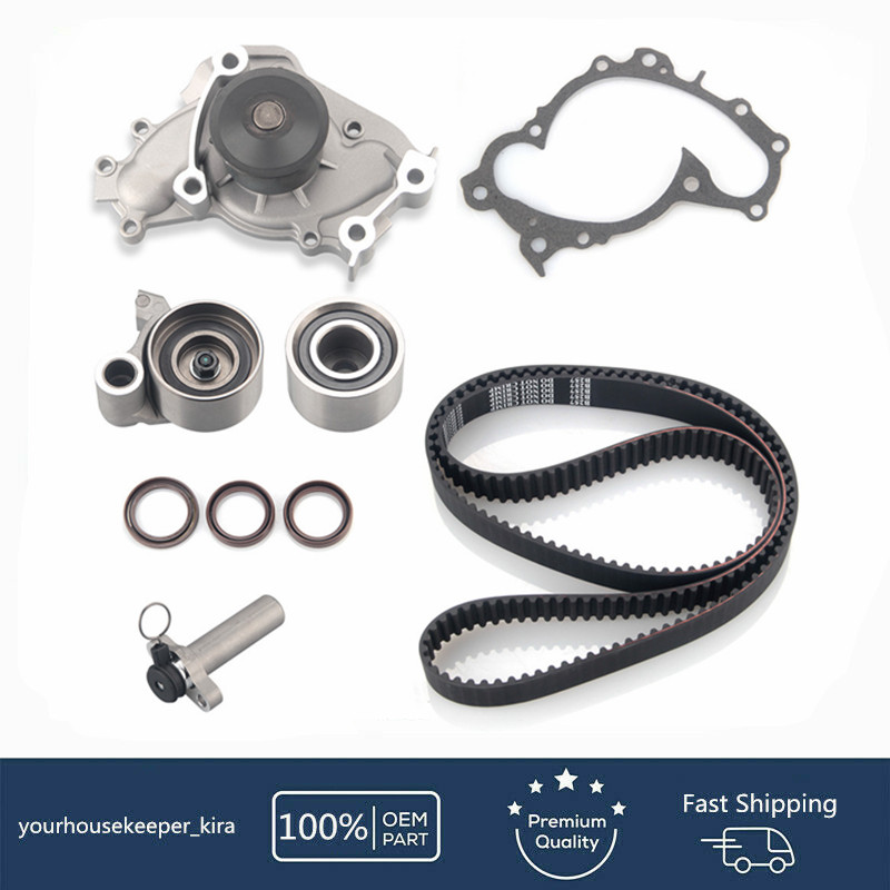 Timing Belt Water Pump Kit with Gaskets fits for 1994-2001 Toyota Camry Lexus ES300 1998-2003 Toyota Sienna Solara Lexus RX300 1995-2004 Toyota Avalon 1MZFE 24V