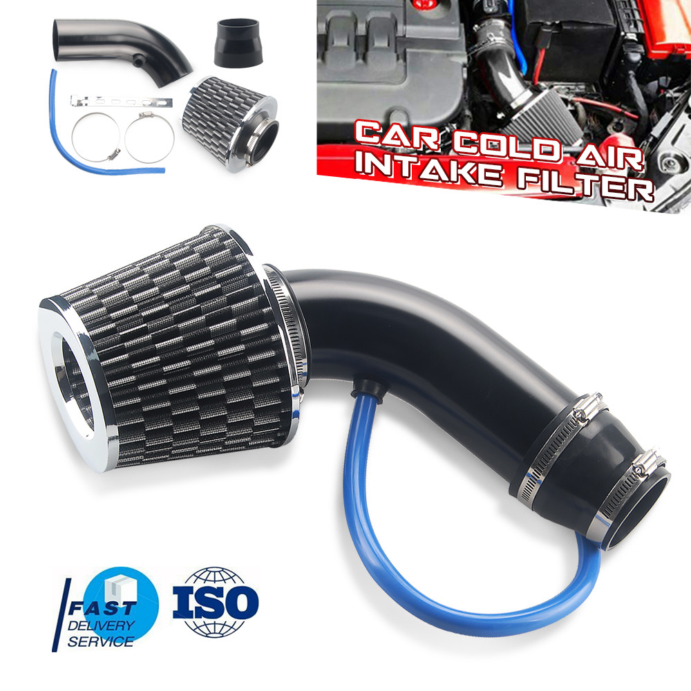 """3/"""" Inch 76mm Universal ByPass Valve BLACK Filter For Acura//Honda Cold Air Intake"""
