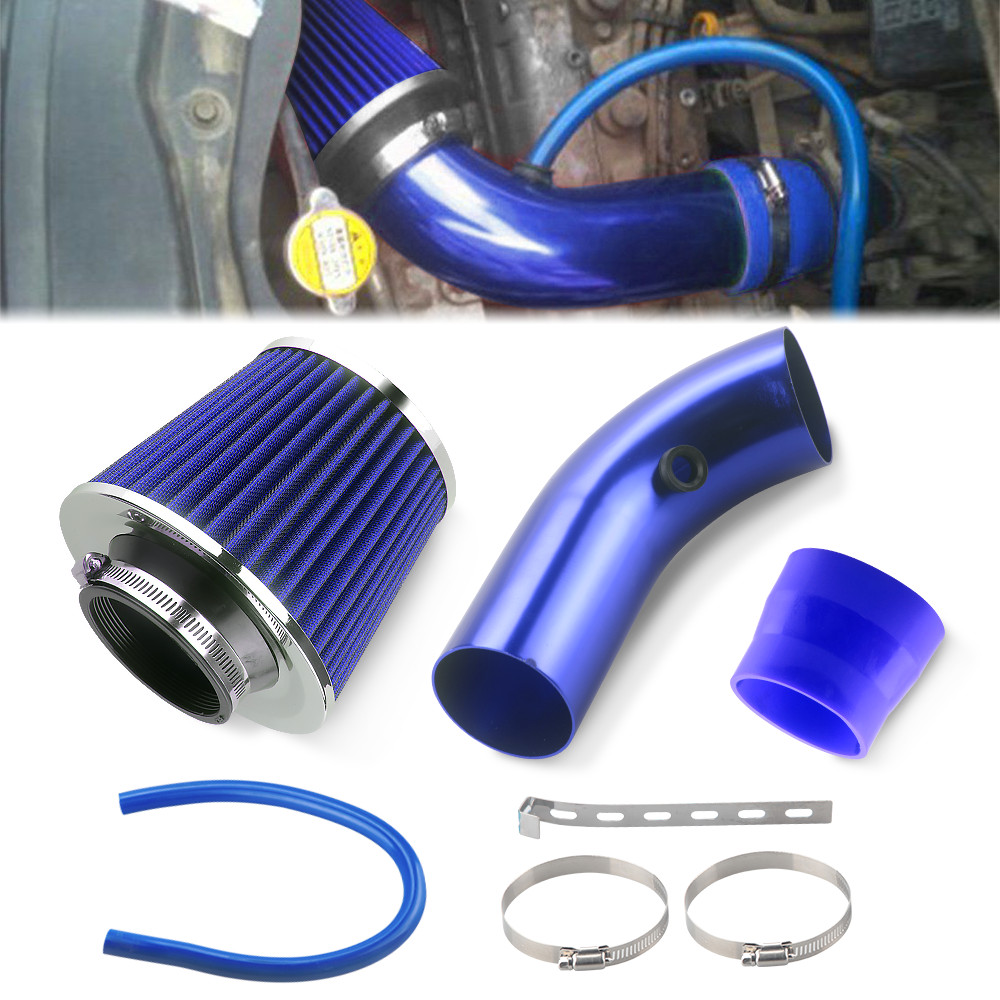 """RED UNIVERSAL 2.5/"""" 64mm SMALL AIR FILTER FOR HONDA//ACURA AIR INTAKE+PIPE"""