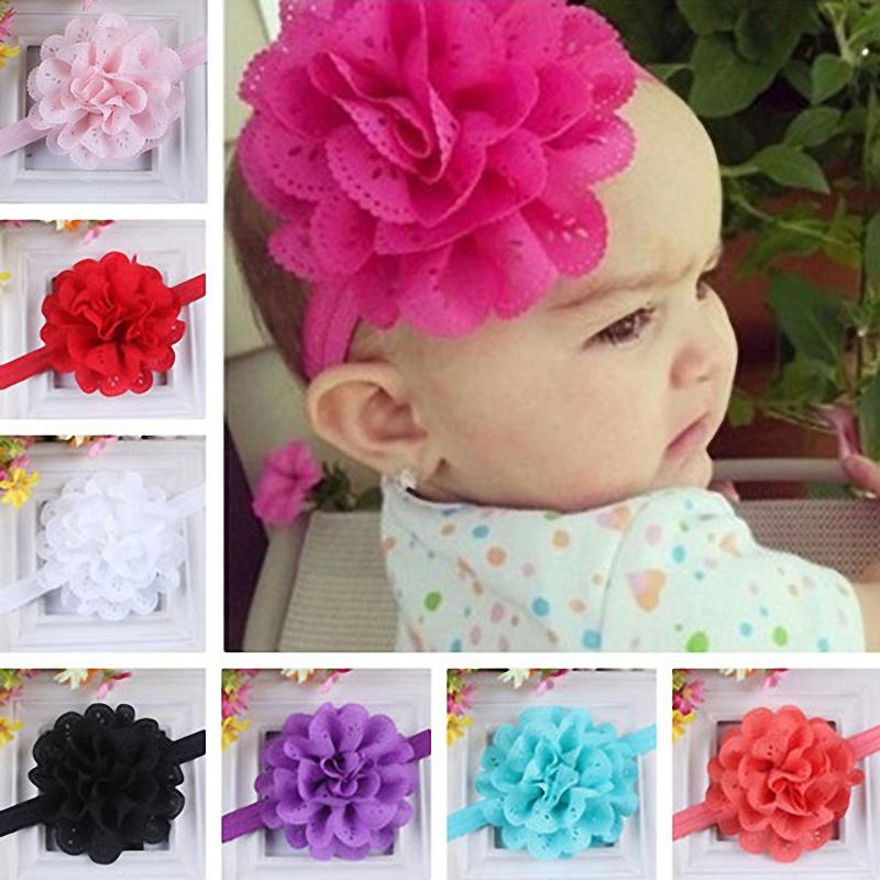 Newborn Girl Baby Hair Band Toddler Cute Elastic Big Flower Headband Accessories