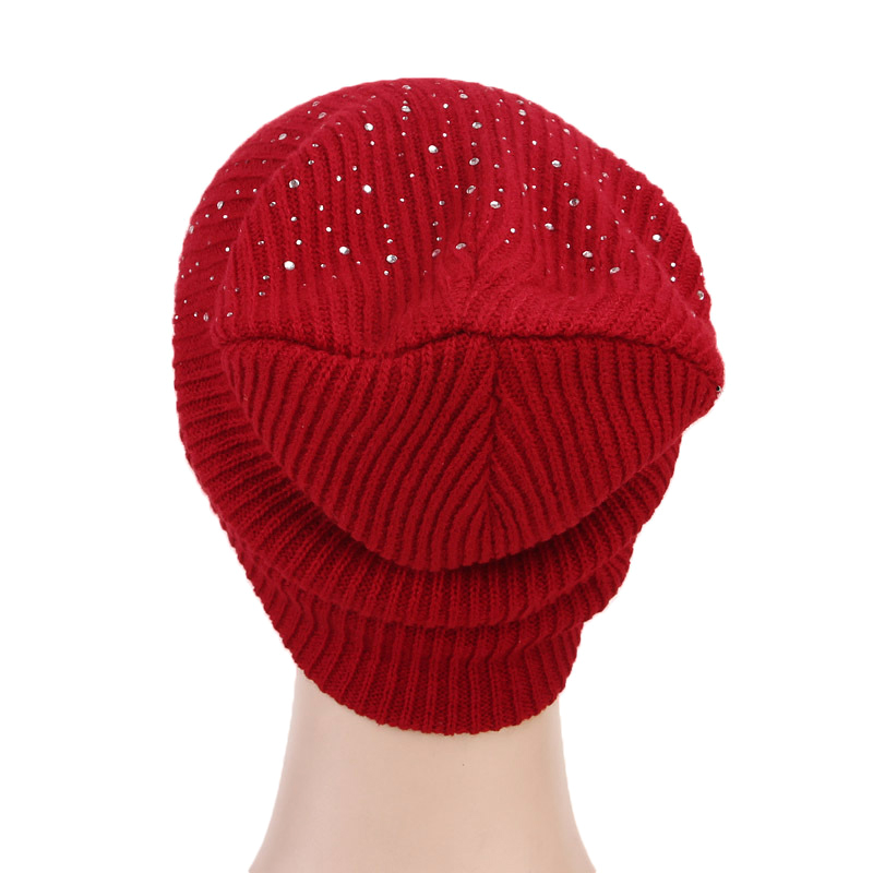 5087d1f911a Details about Women Ladies Knit Hat Outdoor Winter Warm Wool Cap Casual  Beanie Embellish Hats