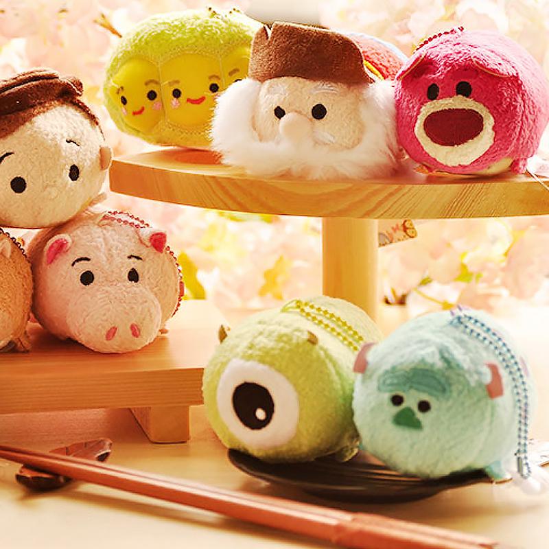 "3.5/"" Disney Tsum Tsum Mini Doll Stuffed Plush Toy Kids Screen Cleaner Chaîne #4"