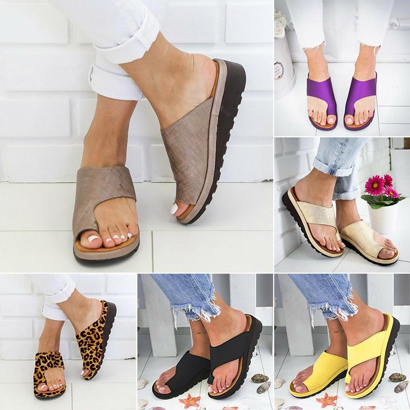 New Women Toe Ring Slippers Platform