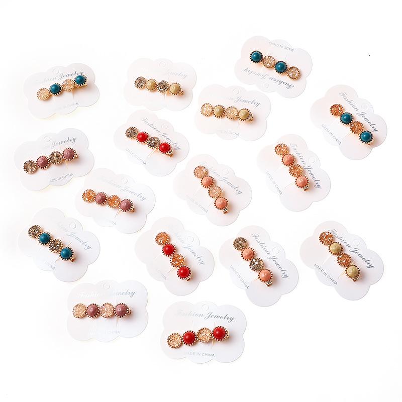Pearl Hair Clip Slide Hair Pin Bridal Hair Accessory Chunky Barrette Hair Clip A