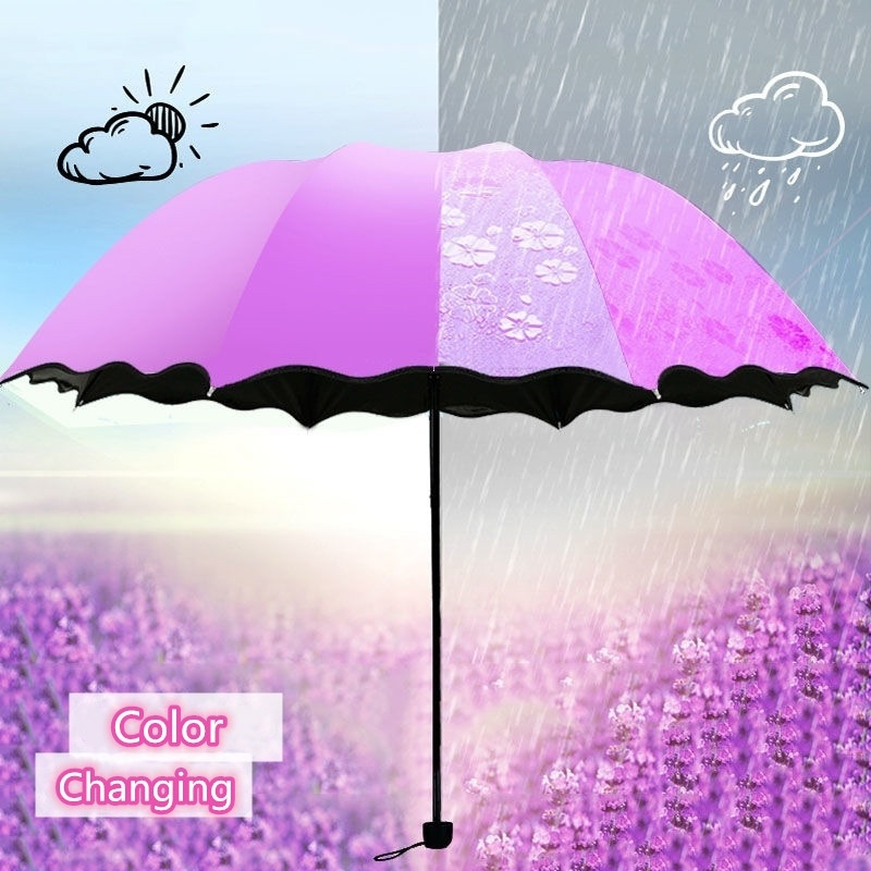Color : Pink Qeeuanl Sun and Rain Pocket Sun Umbrella Sun Protection UV Umbrella Umbrella Folding Umbrella Female Ultra Light Compact Portable