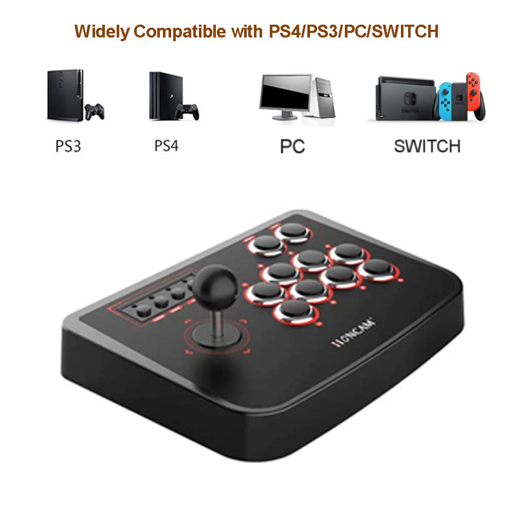 Details about PC/PS4/PS3/Switch/Mac USB Fighting Stick Arcade Controller  Gamepad Game Joystick