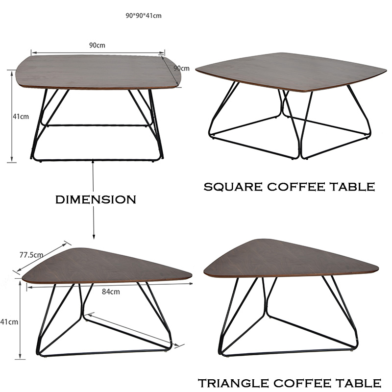 Triangle Coffee Table Wood.Details About Square Triangle Coffee Table With Wood Table Top And Metal Frame Living Room