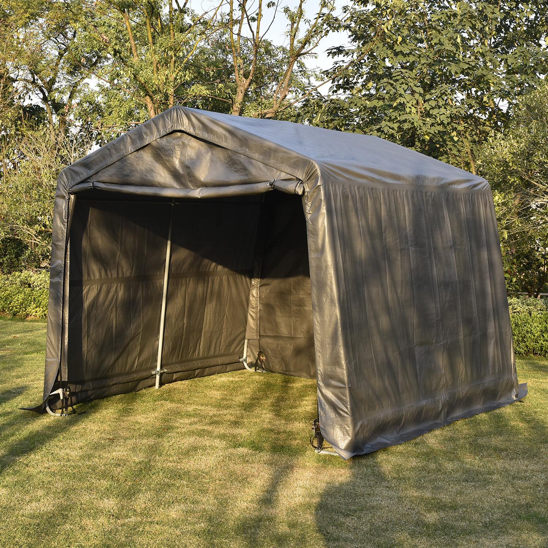 10'x10' Portable Garage Carport Outdoor Yard Canopy Car ...