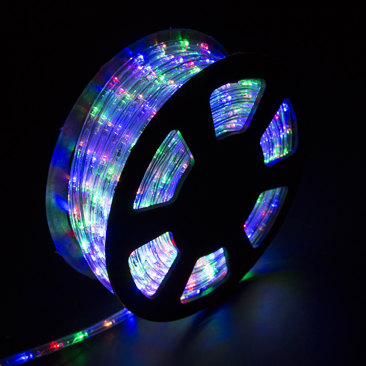 Details About 100ft 110v Led Rope Light Outdoor Yard Home Party Decorative Rgb Color Lighting