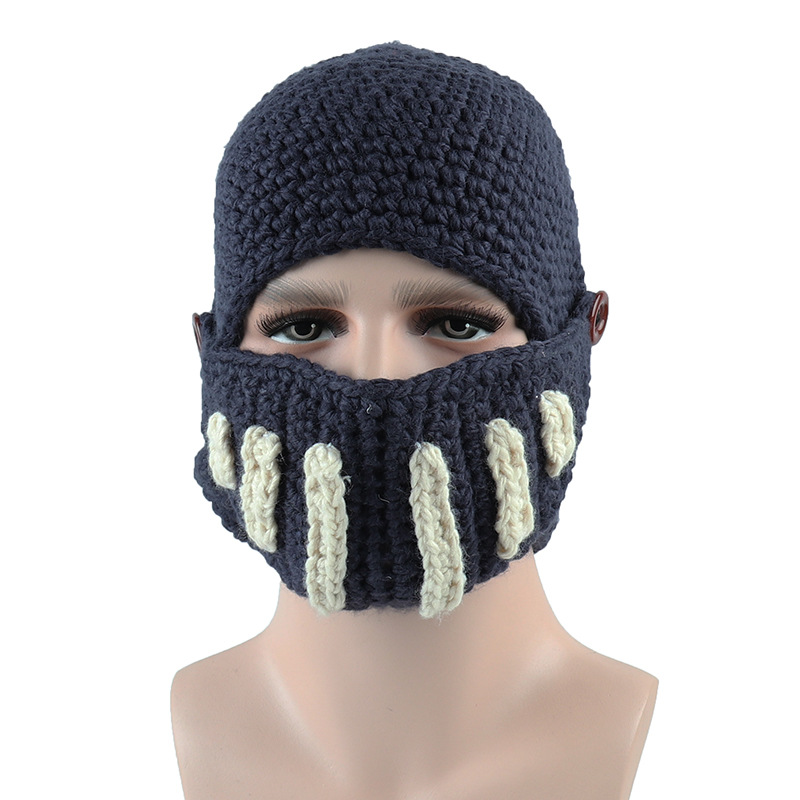 Men-Women-Knit-Keep-Warm-Winter-is-Coming-Hats-Funny-Party-Ski-Game-Mask-Beanies miniature 7