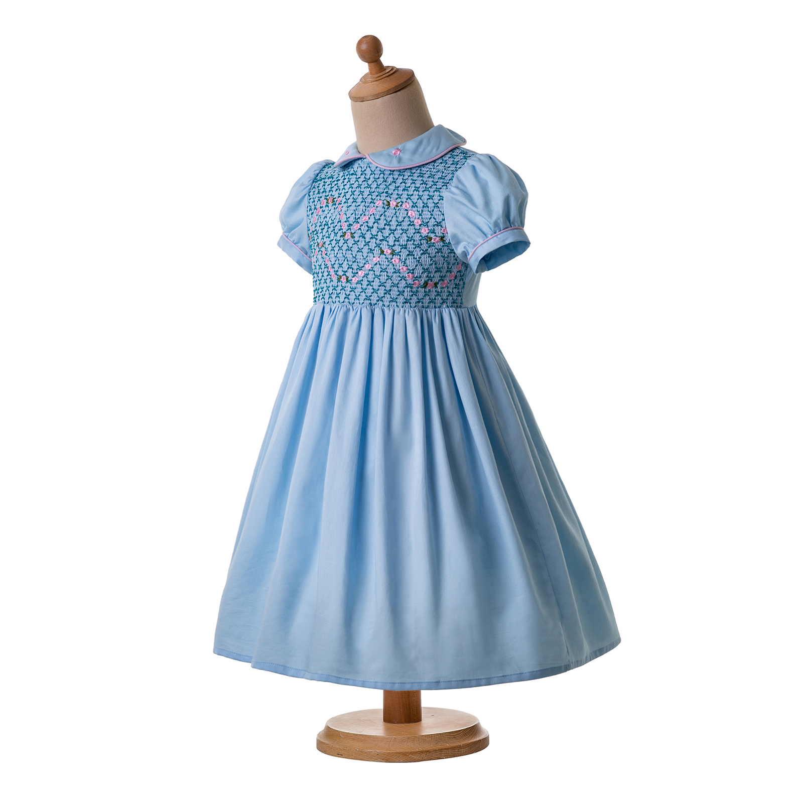 Romany Baby Girls Smocked Dress Peter Pan Collar Christmas Party Outfits 2-12yrs