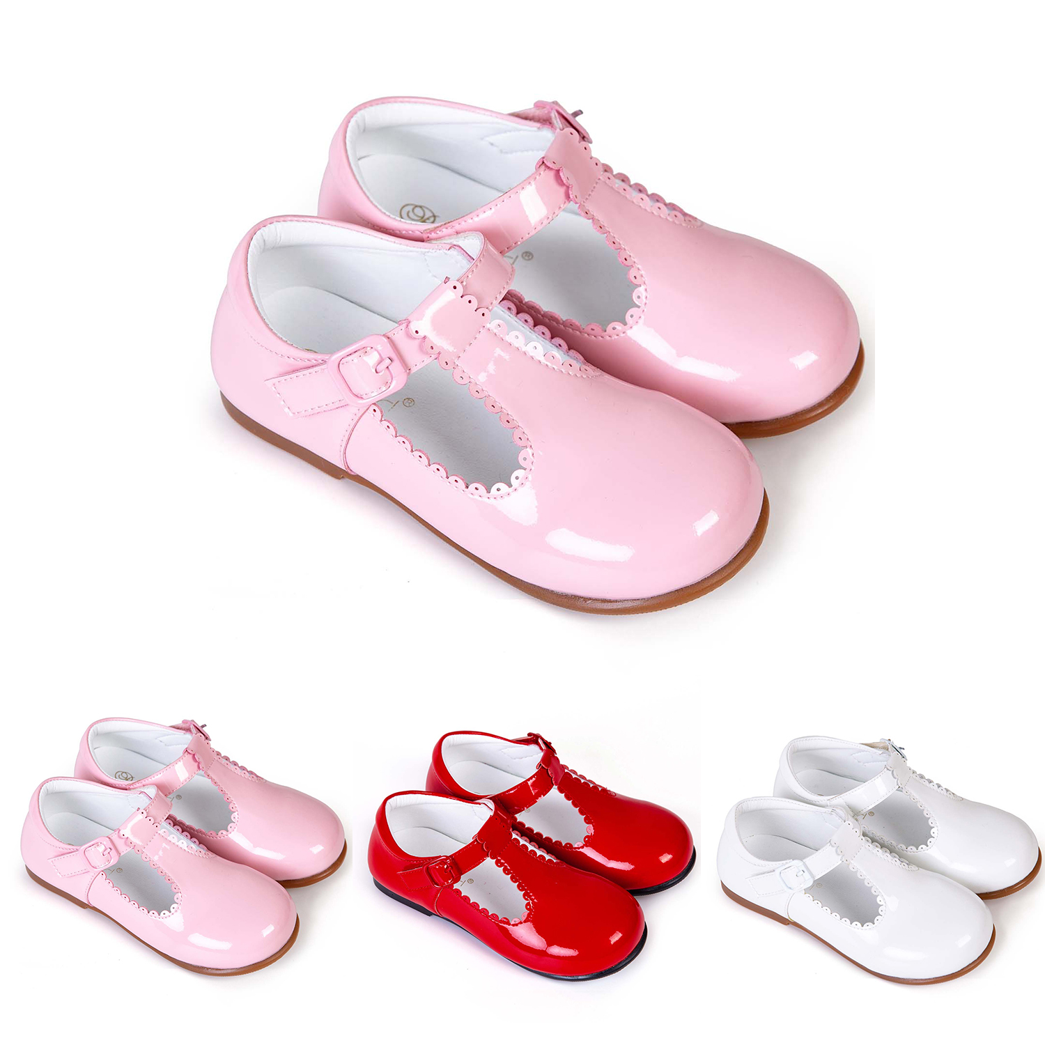 8808a01484 Spanish School Shoes Princess Party Flat Shoes Kids Girls Leather ...