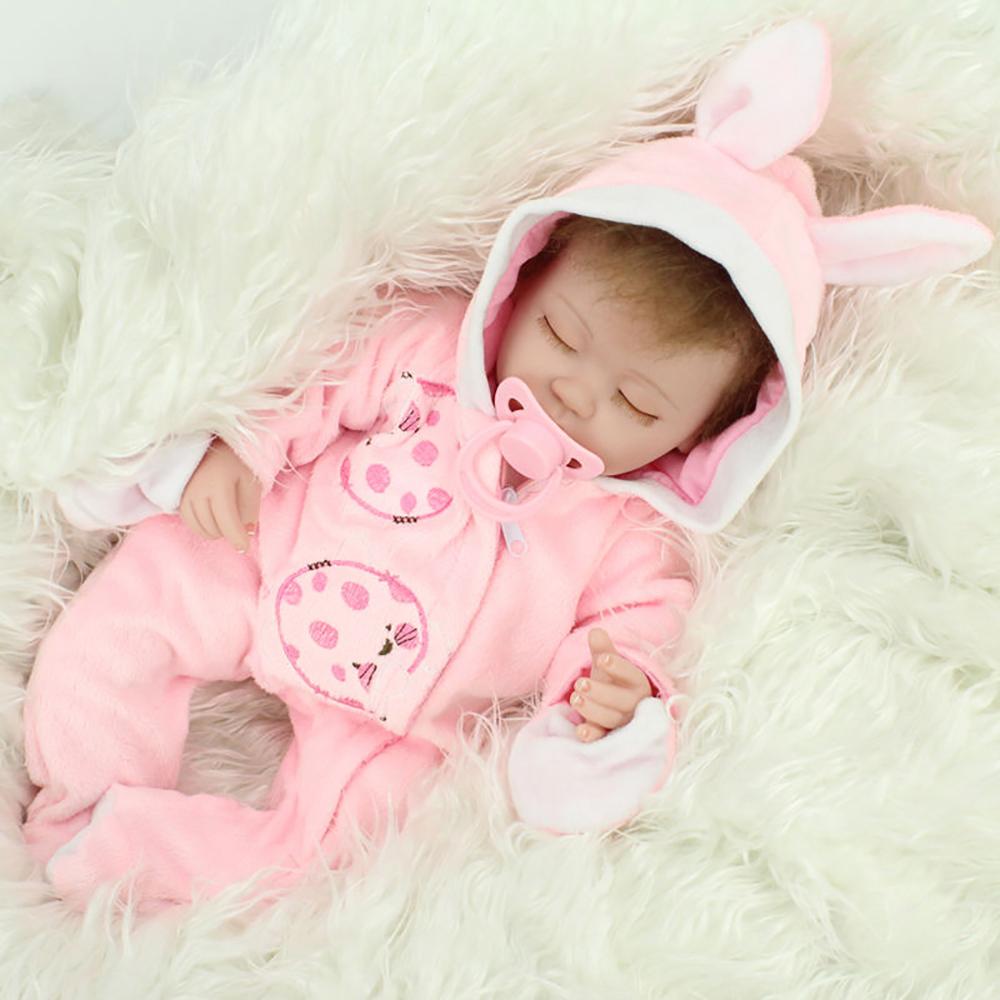 Realistic Reborn Dolls Baby Lifelike Sleeping Soft Vinyl ...
