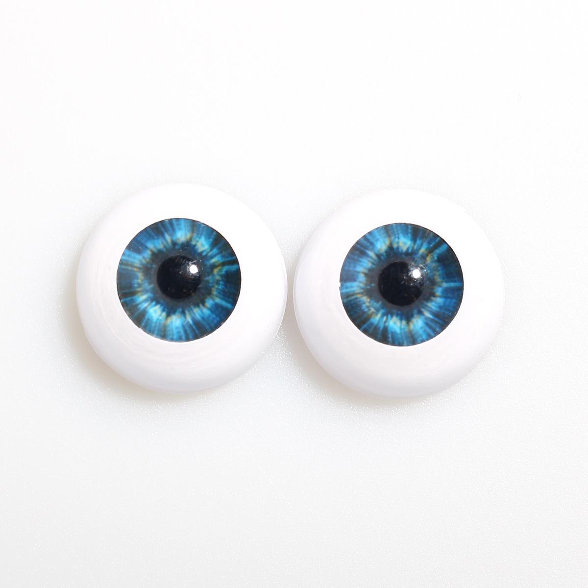 5 Pairs Acrylic Doll Eyeballs Eyes Newborn Baby Doll BJD DIY Crafts 20mm