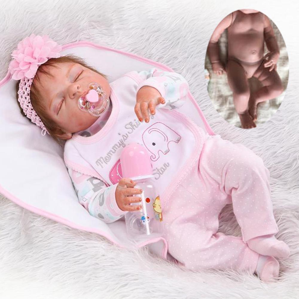 22/'/' Reborn Baby Dolls Realistic Vinyl Silicone Newborn Girl Doll Xmas Gifts