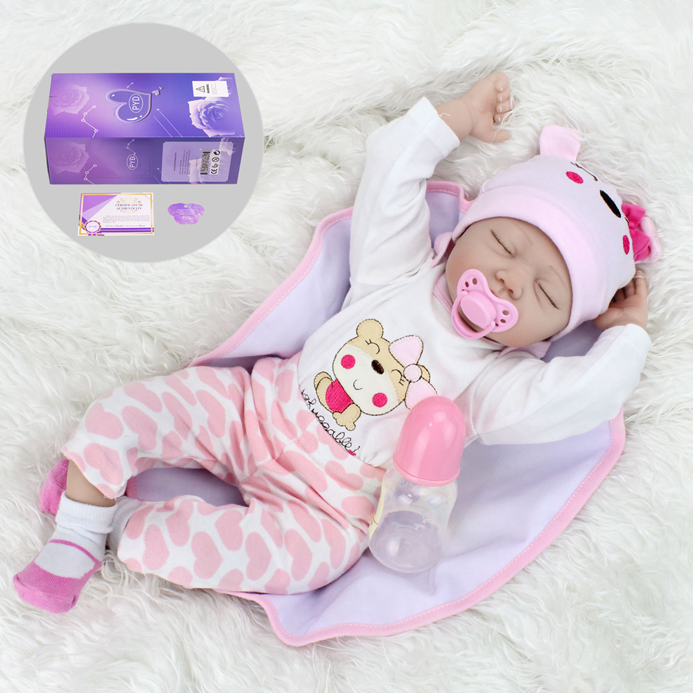 Reborn Twins Doll 22/'/' Handmade Silicone Boy Girl Doll Vinyl Newborn Sleep Dolls