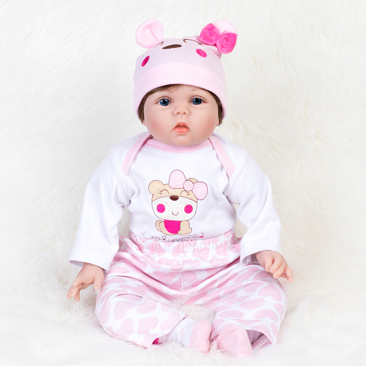 22/'/' Reborn Baby Dolls Lifelike Vinyl Silicone Newborn Girl Handmade Xmas Gift
