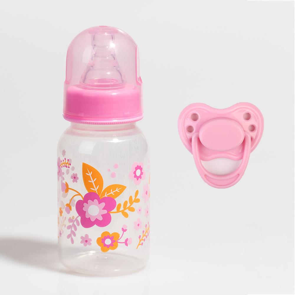 Dummy Magnetic Pacifier Feeding Bottle Lifelike Baby Boy Reborn Doll Accessories