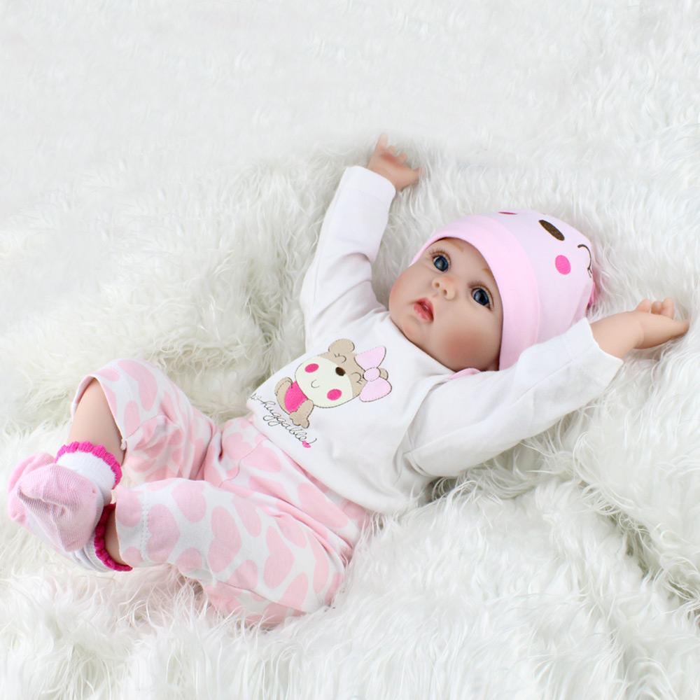 22/'/' Newborn Dolls Vinyl Silicone Lifelike Reborn Baby Dolls Handmade Gift