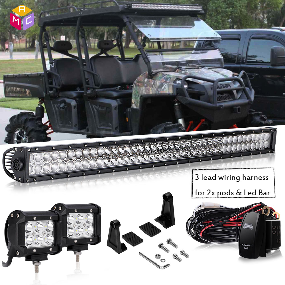30 Led Work Light Bar Headlight Bobcat 553 751 753 763 Etc For Ford Sale 10pcs Universal Off Road Jeep Wiring Harness Kit Product Display