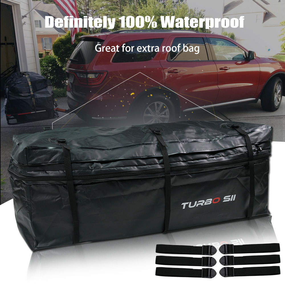 Details About Cubic Feet Rainproof Waterproof Luggage Tow Trailer Hitch Cargo Carrier Bag Us