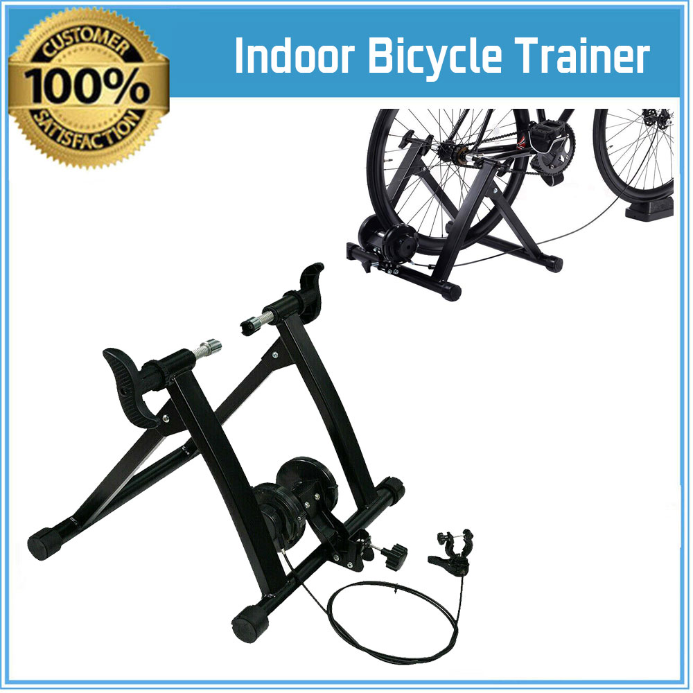 Bicycle Trainer Stationary Bike Cycle Stand Indoor Exercise Training 7 Levels