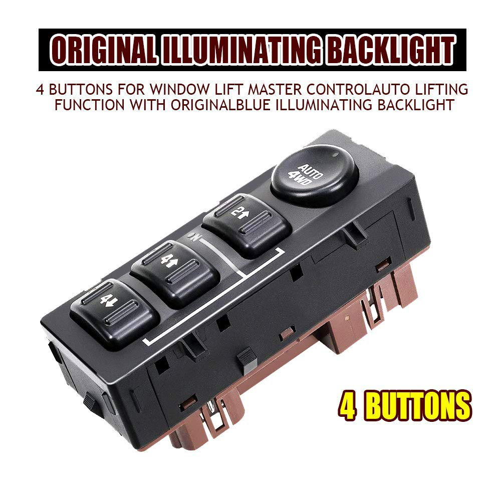 For 2003 2004 2005 2006 Chevrolet 4x4 4wd 4wheel Selector Switch Chevy Avalanche