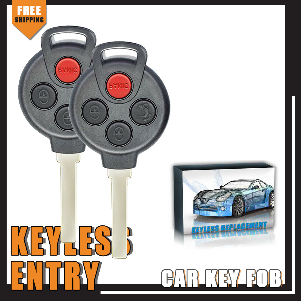 Smart Car Key Replacement >> Details About New Replacement Smart Car Fortwo Keyless Remote Key Fob Oem Kr55wk45144