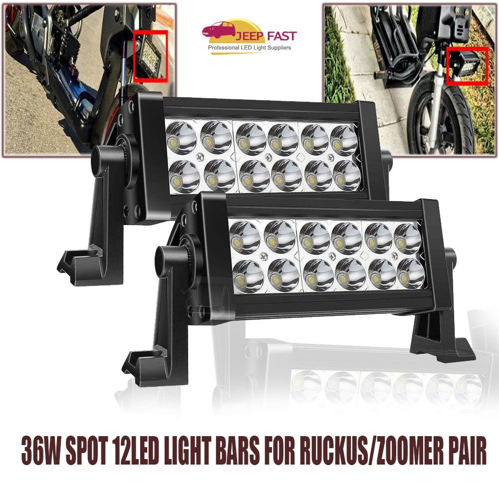 Details about FRONT HEADLIGHT 36W Spot 12LED LIGHT BARS FOR RUCKUS/ZOOMER  Pair