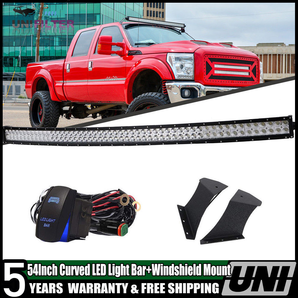 FOR Toyota Tundra 50 inch Curved Led Light SIDE DOOR mount Bracket 2007 2015