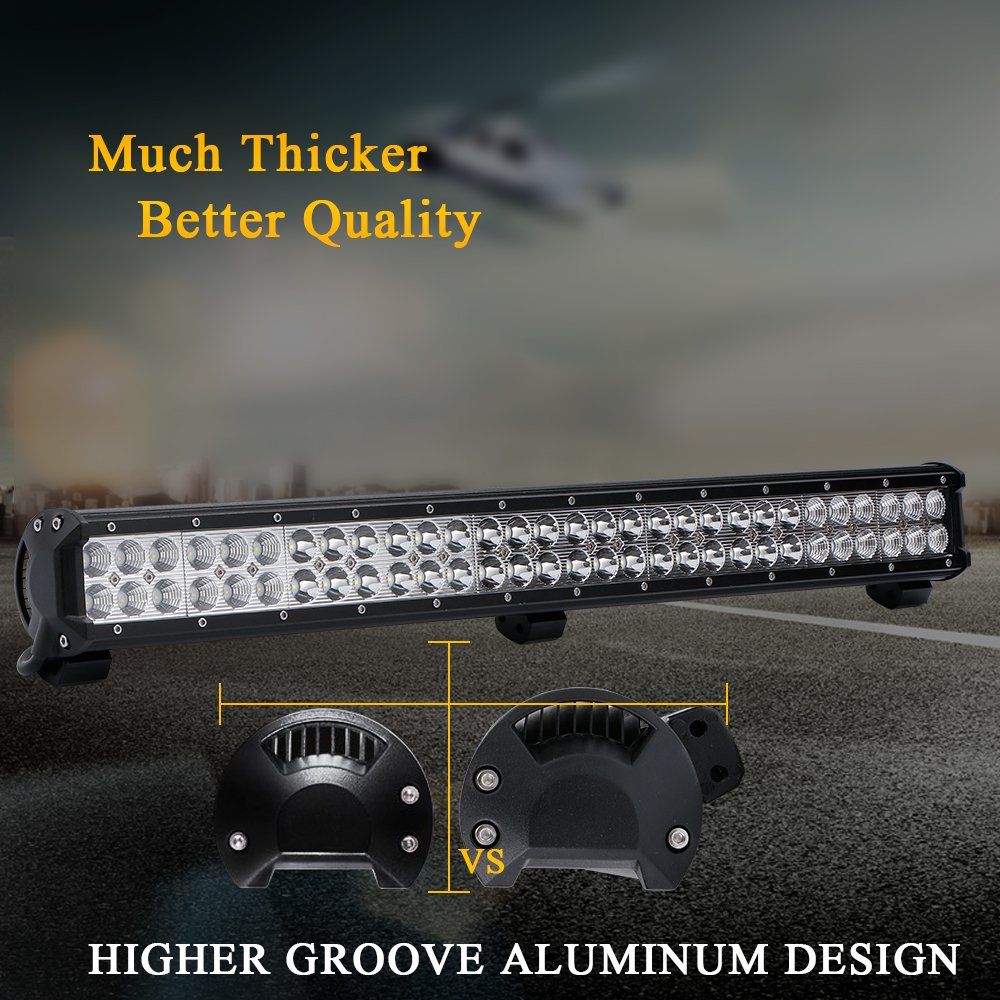 28 Quot 30 Led Light Bar 4 Inch Pods Amp Wiring For Suv Ute Atv 4wd Ford Truck Gmc Ebay