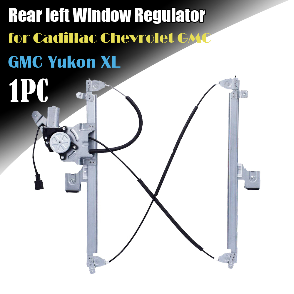 Details about Rear left Driver Window Regulator w/ Motor Fit Chevy/GMC/Cadillac on