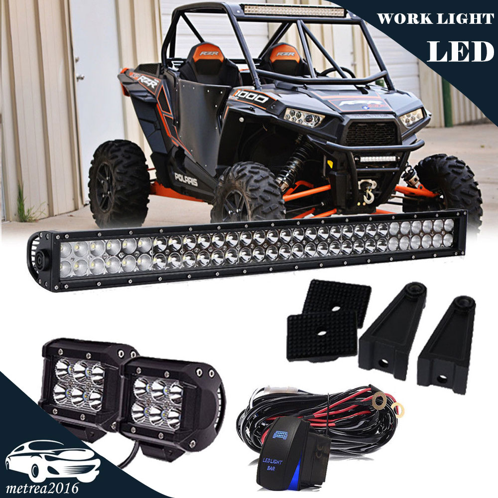 "36/"" LED Light Bar Spot Flood Combo Roof Offroad Fit Polaris Ranger XP 900 1000"