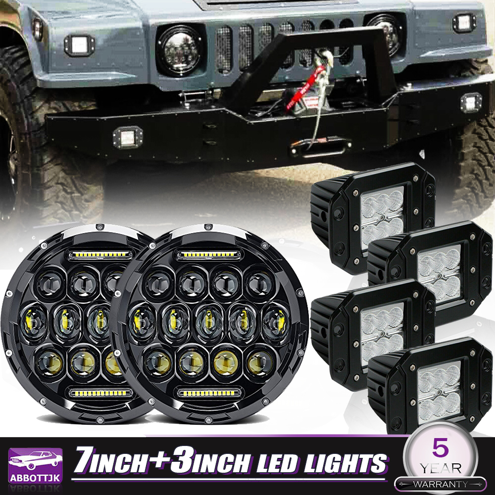 Details about For Hummer Humvee m998 LED Headlights Plug In Play LMTV on