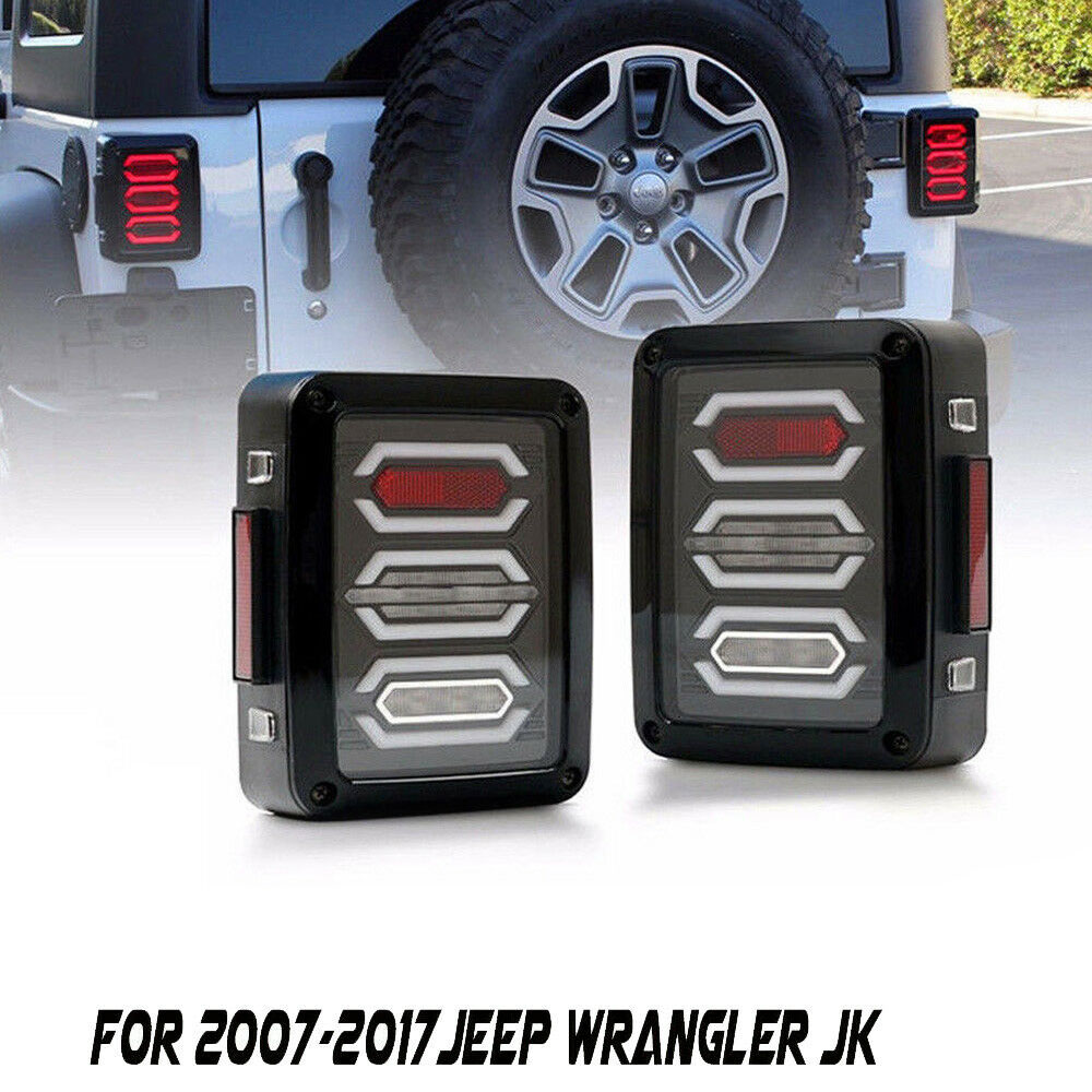 Lights, Bulbs & Indicators New LED Taillights Assembly For Wrangler 2007-2017LED Rear Lamp Brake Reverse Light Rear Back Up Lamp DRL Car Tail lights,1 Years Warranty,1 Pair Lighting Assemblies & Components