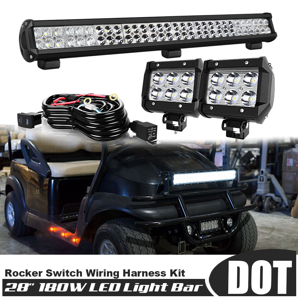 1x 30W 6inch Spot LED Fog Light Bar Lamp Work Offroad Boat ATV Driving UTE HMX