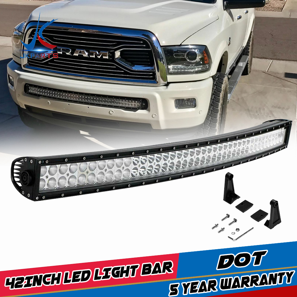 Details About For 2003 2018 Dodge Ram 1500 Express 40 42 Led Light Bar Front Lower Bumper 52