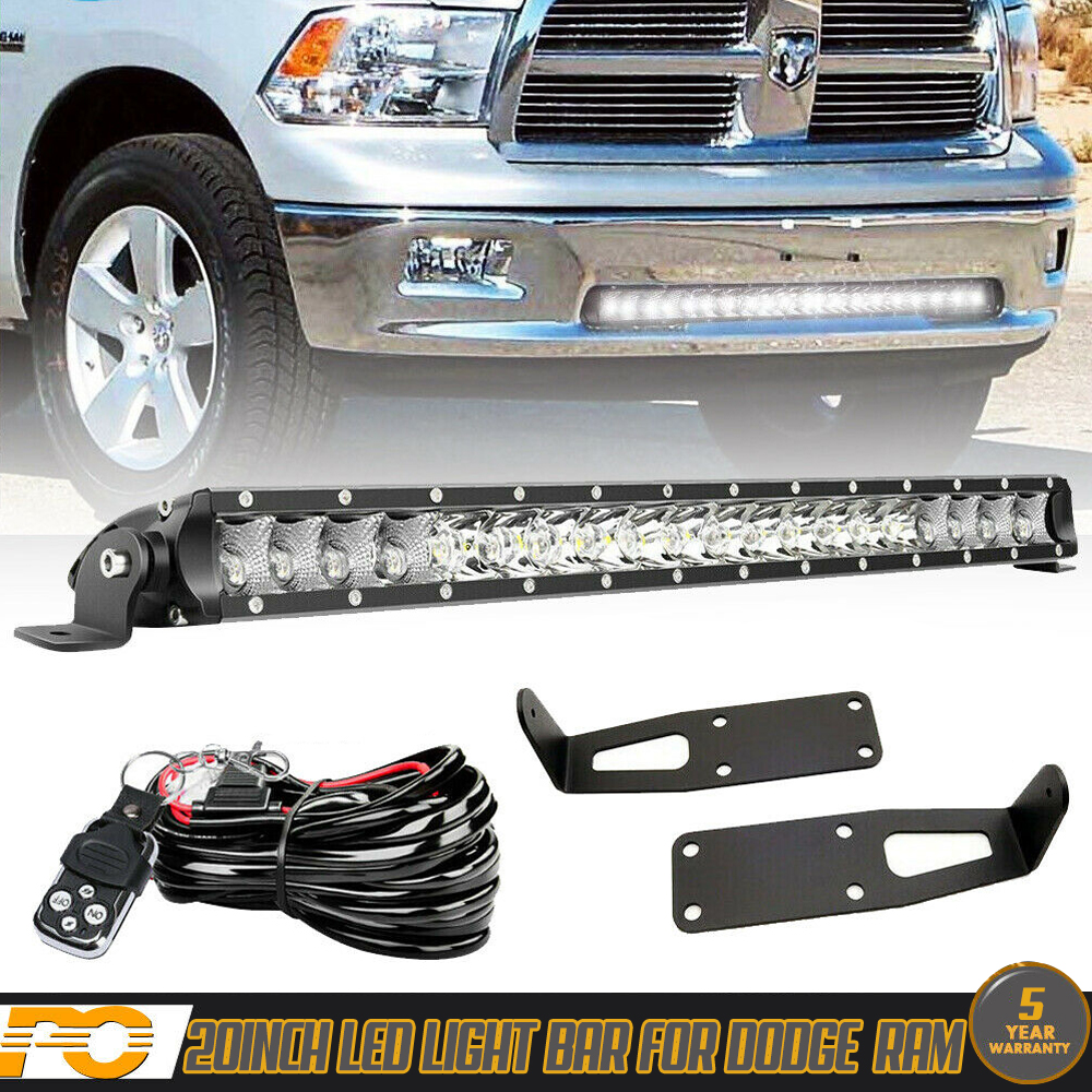 Details About 20 21 Led Light Bar Kit For Dodge Ram 1500 2500 Wiring Bumper Mounting Bracket